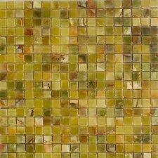 """0.63"""" x 0.63"""" Onyx Mosaic Tile in Verde"""
