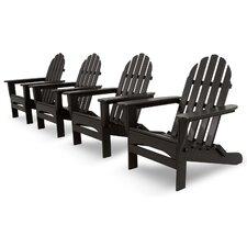Ivy Terrace Classics 4 Piece Folding Adirondack Seating Group