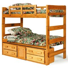 Extra Tall Twin over Twin Bunk Bed with Storage by Chelsea Home