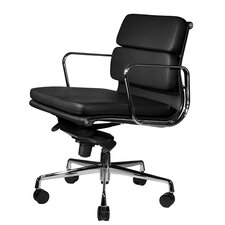 Clyde Mid-Back Leather Desk Chair