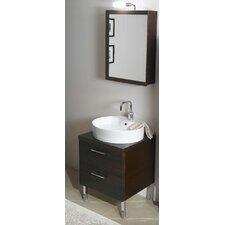 Aurora 23 Single Bathroom Vanity Set with Mirror by Iotti by Nameeks