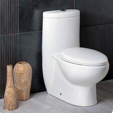 Delphinus Dual Flush Elongated One Piece Toilet