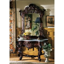 Hapsburg Console Table and Mirror Set by Design Toscano