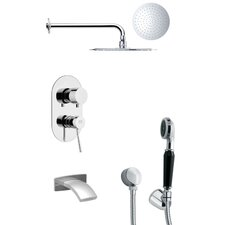 Tyga Pressure Balance Tub and Shower Faucet by Remer by Nameek's