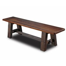 Tusk Tenon Wood Dining Bench by Vintage Flooring and Furniture