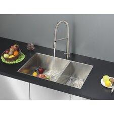 """Nesta 32"""" x 20"""" Undermount Double Bowl Kitchen Sink"""