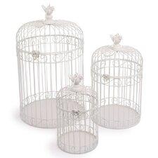 3-Pice Decorative Birdcage Set