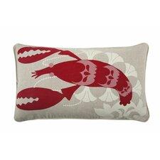 Lobster 12x20 Cotton Lumbar Pillow