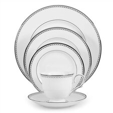 Pearl Platinum Bone China 5 Piece Place Setting, Service for 1