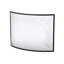 Single Panel Curved Fireplace Screen