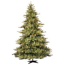 Mixed Country Pine 7.5' Green Artificial Christmas Tree with 800 Clear Lights with Stand