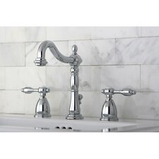 Tudor Double Handle Widespread Bathroom Faucet with ABS Pop-Up Drain