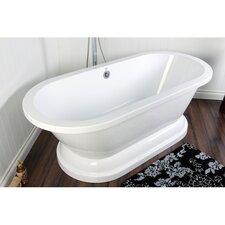 Aqua Eden 31.5 x 66.94 Freestanding Soaking Bathtub by Kingston Brass