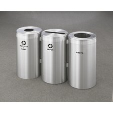 RecyclePro Value Series Triple Unit 69 Gallon Recycling Bin