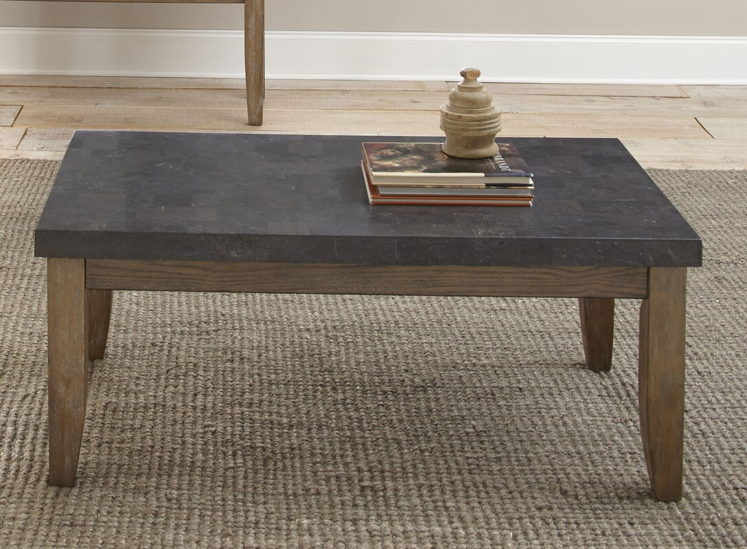 loon peak pine knob bluestone coffee table & reviews | wayfair