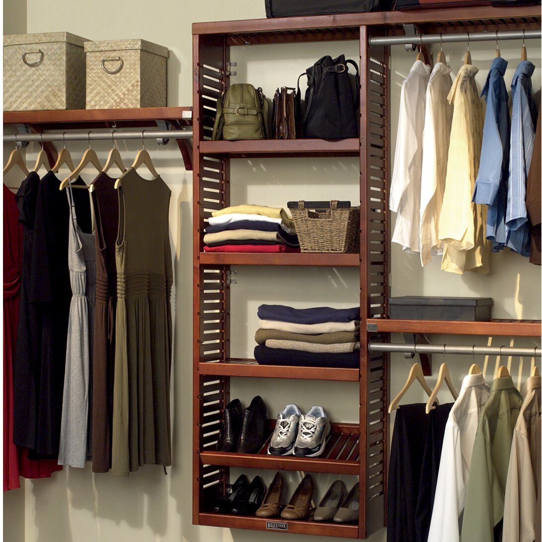 John louis home 120 w closet system reviews wayfair Pictures of closet organizers