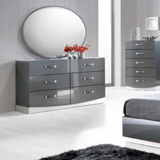 Valencia 6 Drawer Dresser with Mirror by BestMasterFurniture