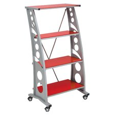 Racing Style 55 Accent Shelves Bookcase by PitStop Furniture