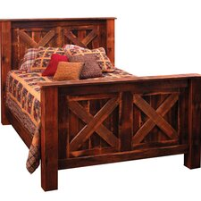Reclaimed Barnwood Panel Customizable Bedroom Set by Fireside Lodge