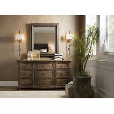 Hill Country 9 Drawer Dresser with Mirror by Hooker Furniture