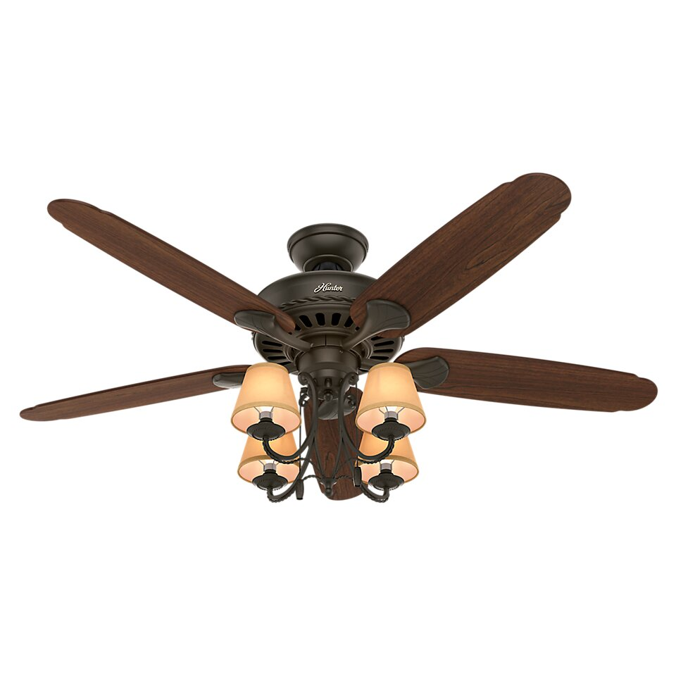 "Quality Ceiling Fans Photo 3 Of 6 Charming Ceiling Fan: Hunter Fan 54"" Cortland 5-Blade Ceiling Fan & Reviews"