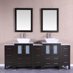 84 Double Vanity Set with Mirror Bosconi