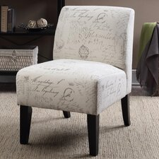 Ardane Printed Script Slipper Chair by Ophelia & Co.