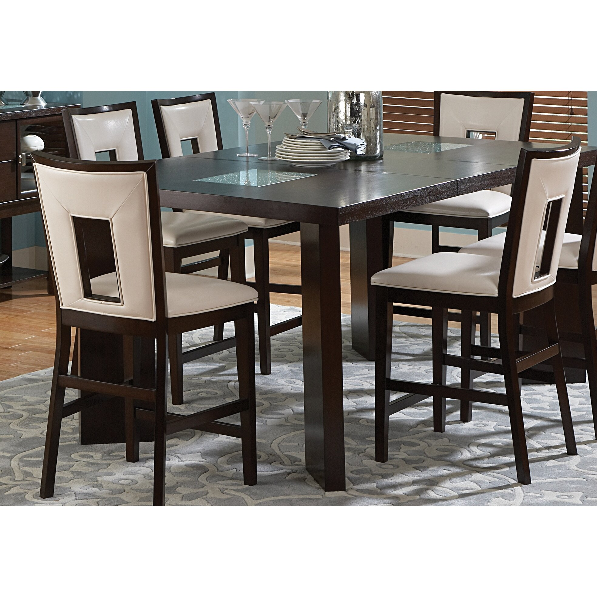 7 Piece Counter Height Dining Room Sets: Brayden Studio Hillcrest 7 Piece Counter Height Dining Set