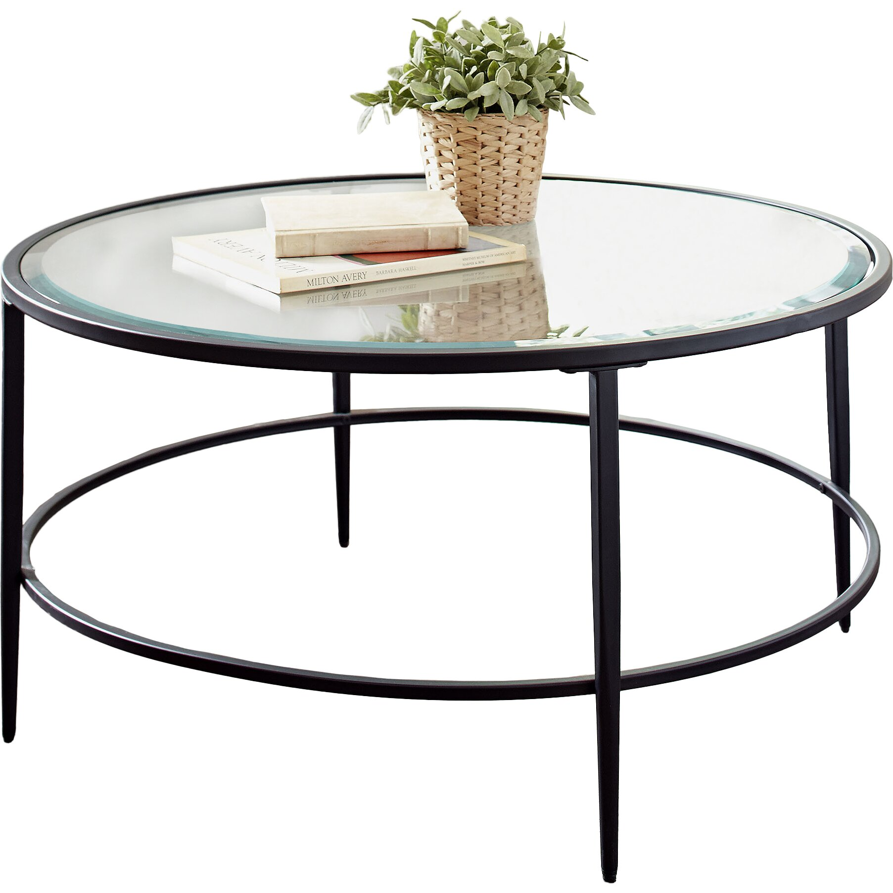 Harlan round coffee table reviews birch lane for Round table 85 ortenau