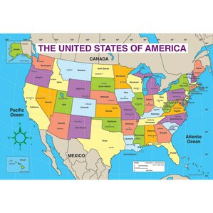 States And Capitals Of The United States Labeled Map USA States - Map of the usa states labeled