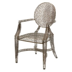 Gerhardina Handcrafted Metal Armchair by Willa Arlo Interiors