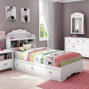 tiara twin mateu0027s bed with storage and headboard