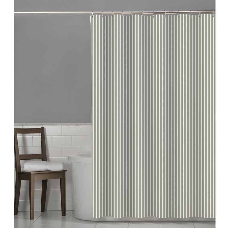 Maytex Seersucker Stripe Shower Curtain Reviews Wayfair