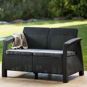Attractive Berard Patio Loveseat With Cushions