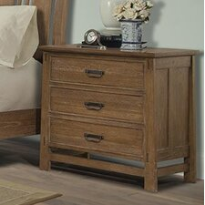 Huber 3 Drawer Nightstand by Loon Peak