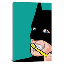 'Bat-Brush' Graphic Art on Wrapped Canvas