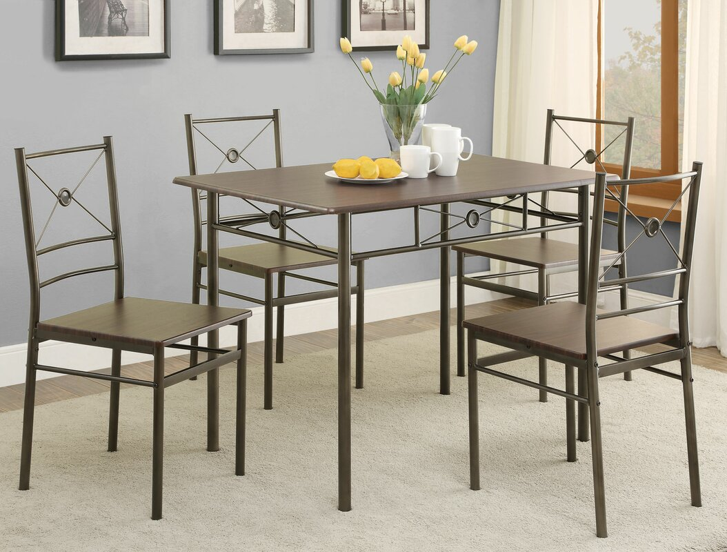 andover mills mayflower 5 piece dining set & reviews | wayfair