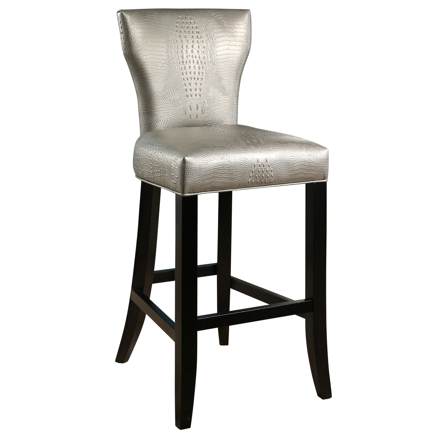 Everly Quinn Zora Crocodile Embossed 30 Quot Bar Stool
