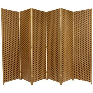 70 75 X 105 Woven Fiber 6 Panel Room Divider