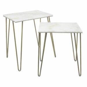 Parris Metal End Table (Set of 2) by Varick Gallery