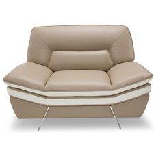 Mia Bella Carlin Leather Club Chair by Michael Amini (AICO)