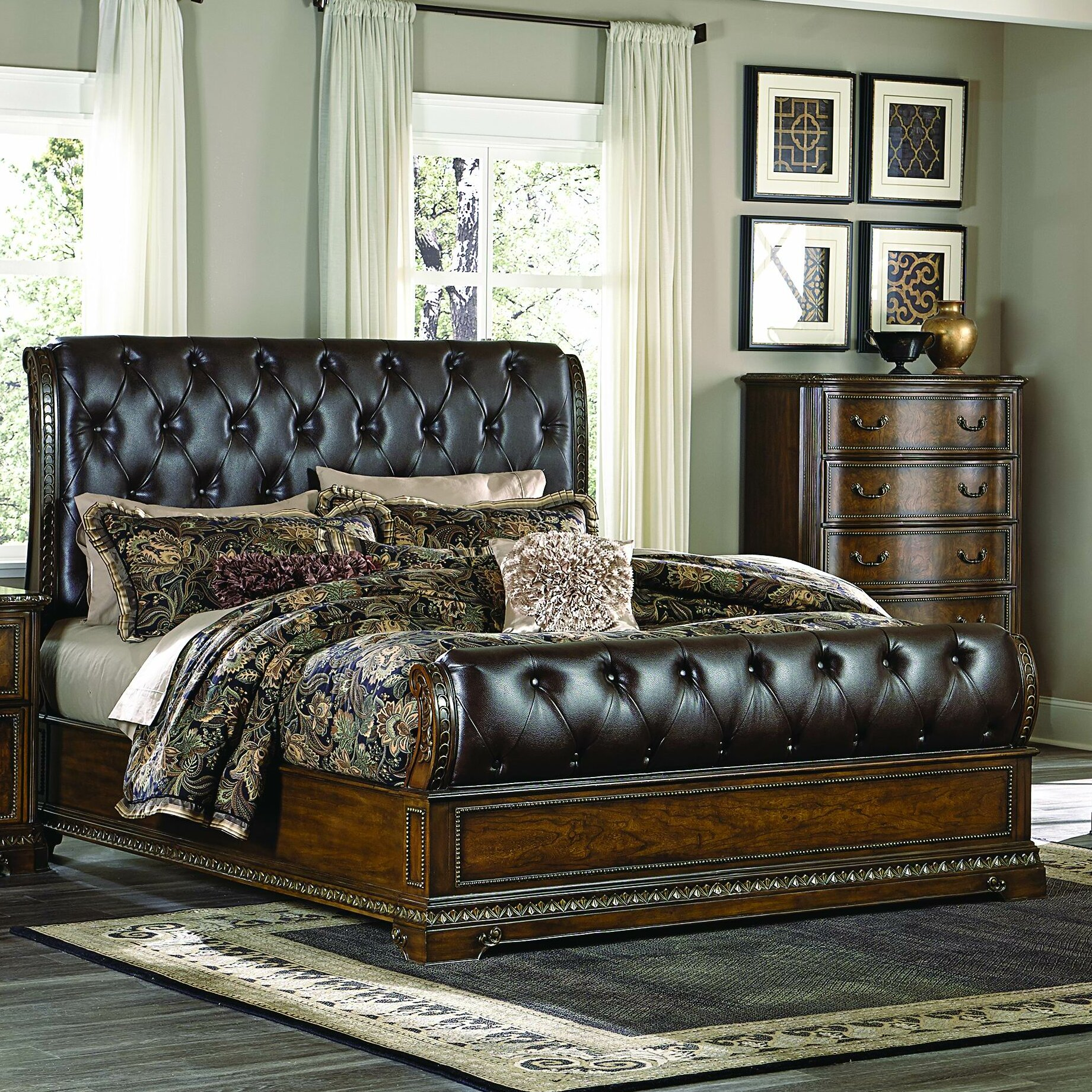 Homelegance Brompton Lane Sleigh Customizable Bedroom Set | Wayfair