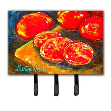 Tomatoes Slice It Up Leash Holder and Key Hook by Caroline's Treasures