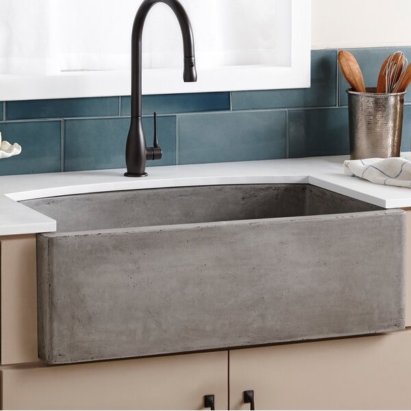 "Native Trails Farmhouse 33"" x 20 5"" Quartet Kitchen Sink & Revi"