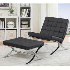Elian Lounge Chair and Ottoman Set by ACME Furniture