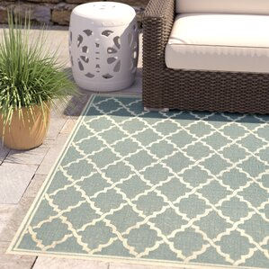 Cardwell Ocean Port Light Turquoise Indoor/Outdoor Area Rug