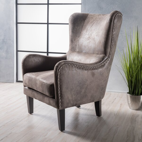 Trent Austin Design Rockport Hi Back Studded Wingback