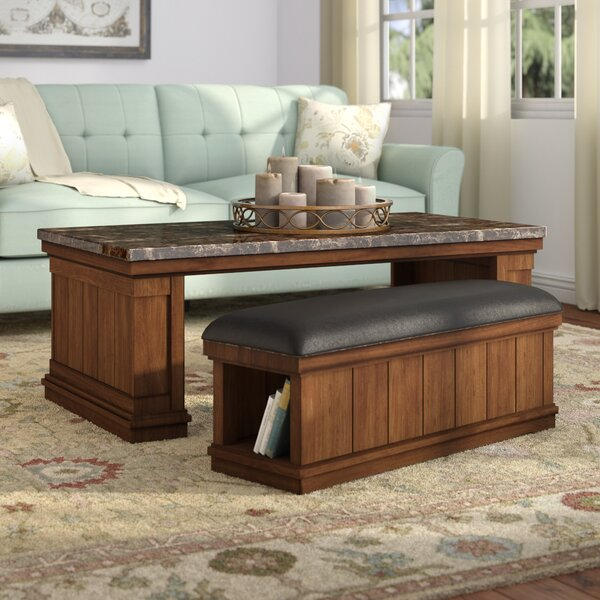 Darby Home Co Hodgkinson Coffee Table With Ottoman Reviews Wayfair