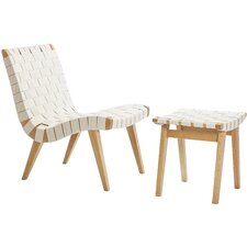 Woven Side Chair and Ottoma by Design Tree Home