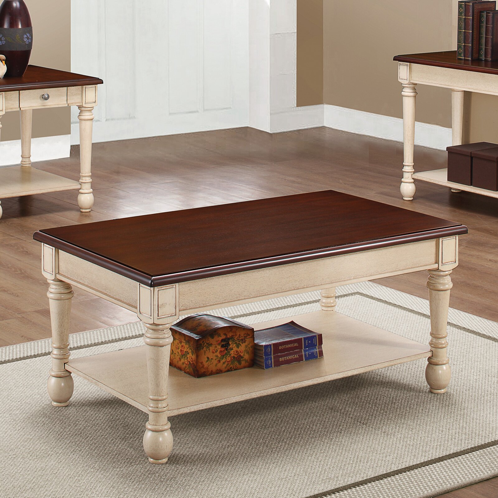 Three Posts Classic Two Tone Coffee Table & Reviews